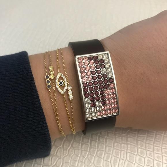 Swarovski Jewelry - Swarovski silicone crystal ion bracelet